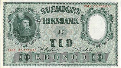 värde gamla svenska sedlar